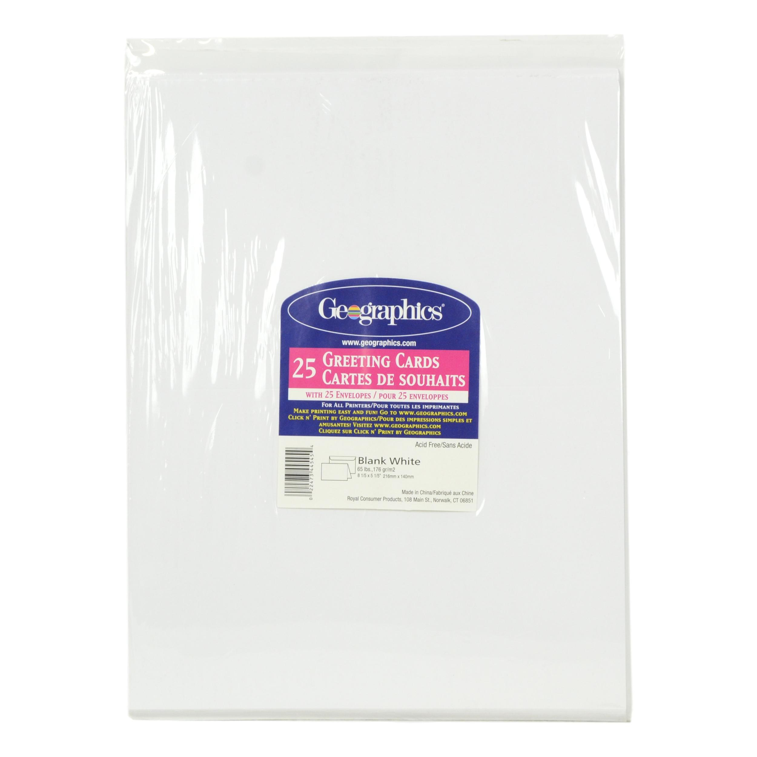 Geographics 25 Count Blank Greeting Cards